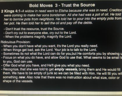 Bold Moves Vol. 3 - August 5, 2018