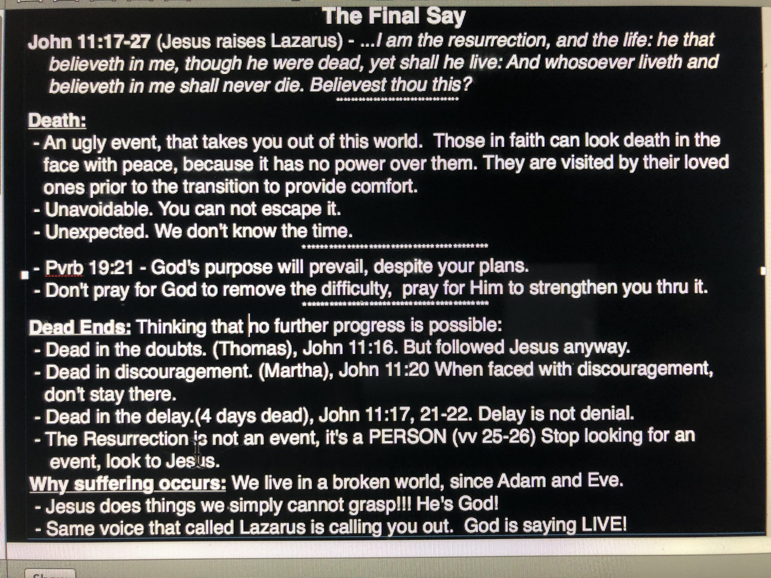 The Final Say - March 31, 2019